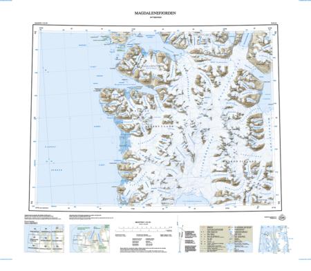 Kart over Magdalenafjorden