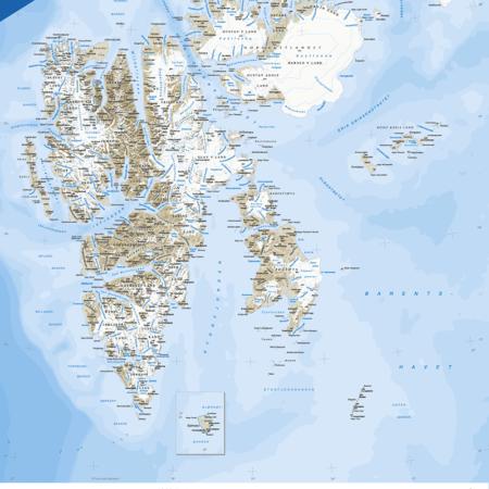 kart over svalbard