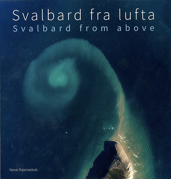 book cover from the book svalbard from above