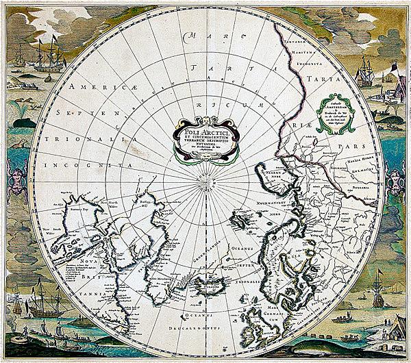 Gammelt kart over Arktis