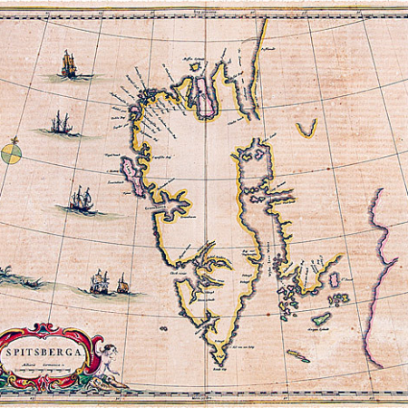 Gammelt kart over Spitsbergen
