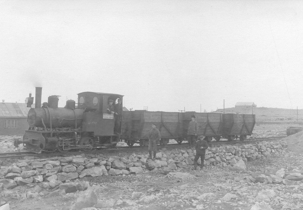 Gamle rester av skinnegang fra jernbane