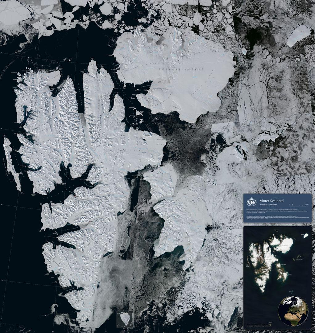 Vinter Svalbard Satellitt Norsk Polarinstitutt