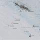 kartutsnitt av lingetoppane i antarktis