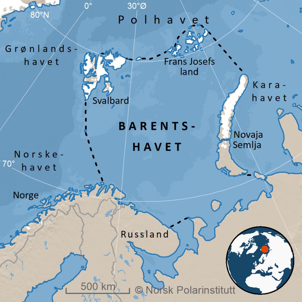 kart over barentshavet