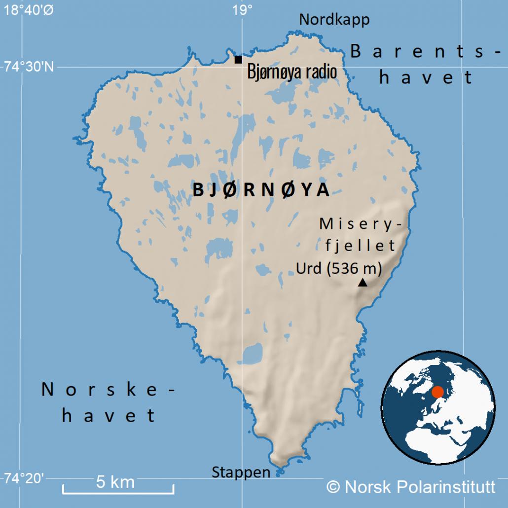 kart over Bjørnøya