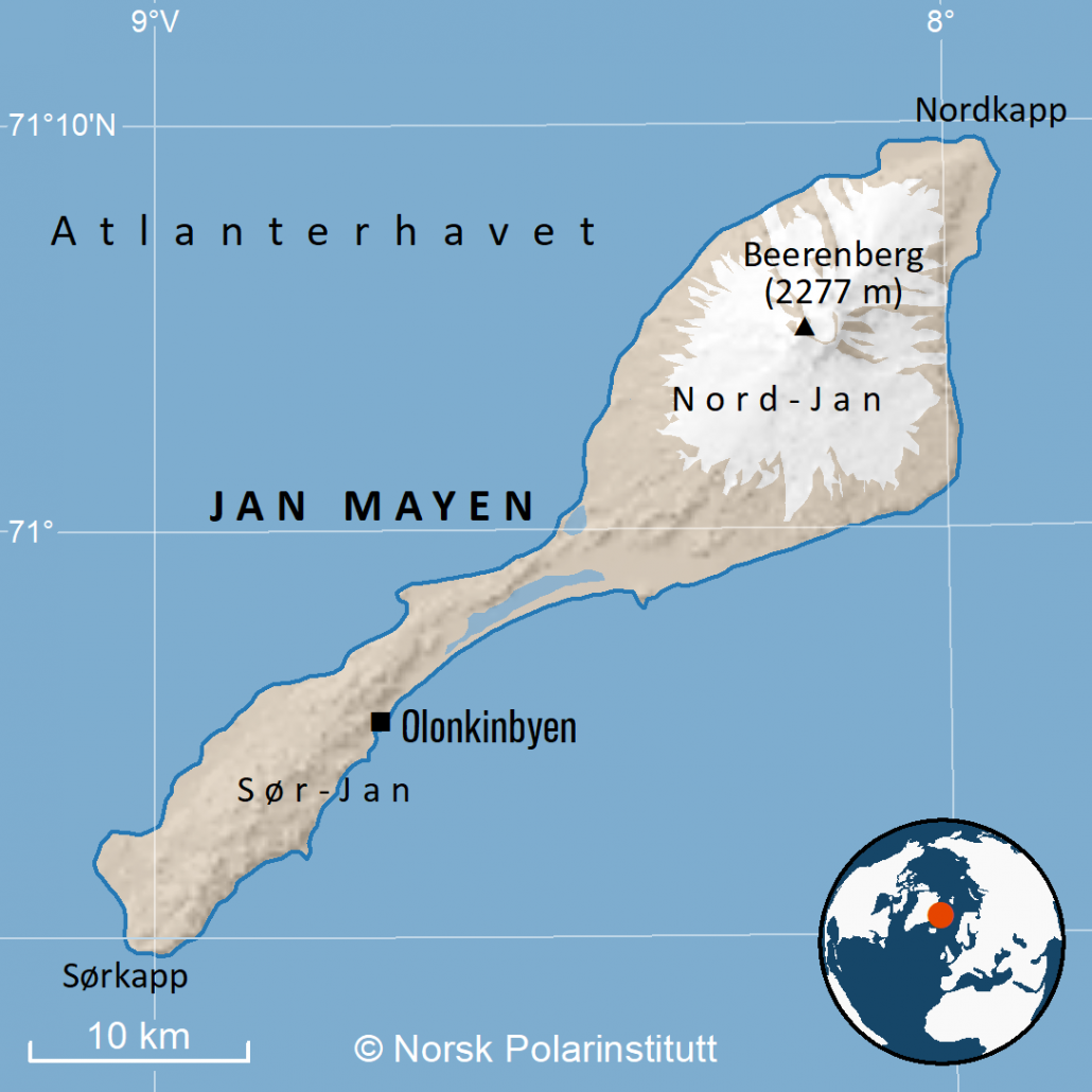 kart over jan mayen