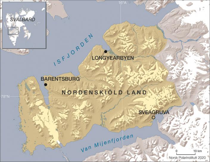 art over nordenskioldland på svalbard