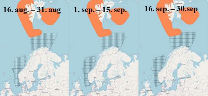 kart som viser fraråding for seismikk for 2021