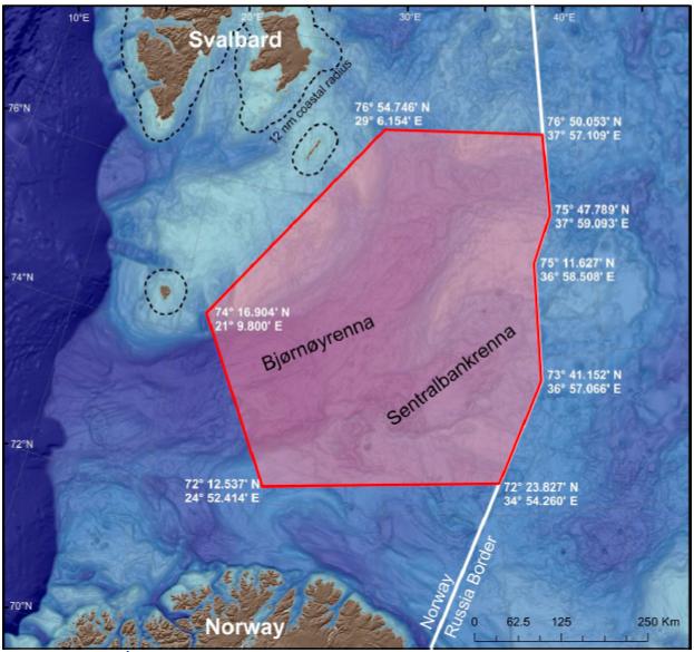 kart over planlagt undersøkler for tokt med Helmer hanssen